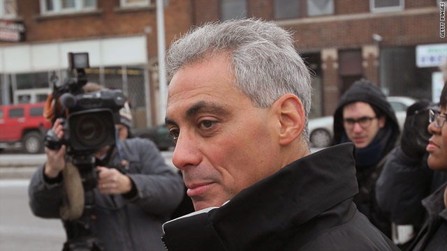 Obama: Emanuel&#039;s busy shoveling snow