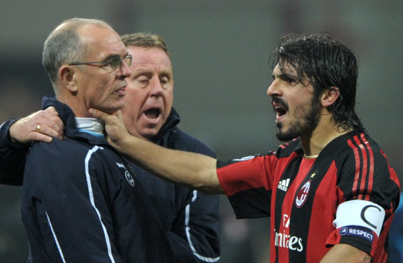 Gennaro Gattuso has apologised for his clash with Joe Jordan at the San Siro. (AFP/Getty Images)