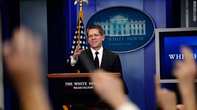 Carney sounds like Gibbs on first day as White House spokesman