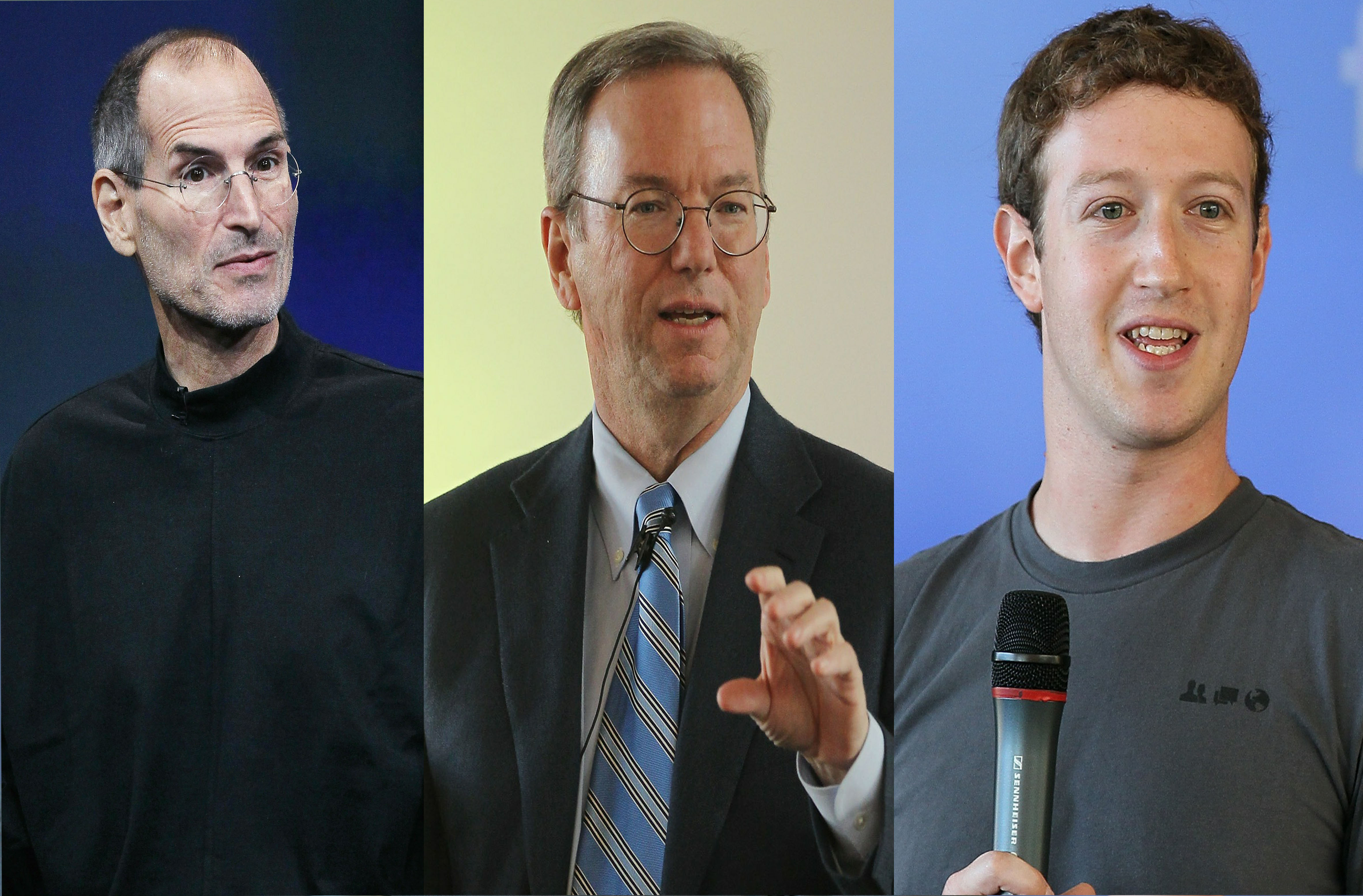 Obama 'friending' Zuckerberg, Jobs, Schmidt