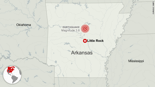 3.8 earthquake strikes central Arkansas