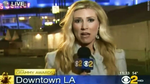 Doctor: Grammy reporter suffered migraine, is 'back to normal'