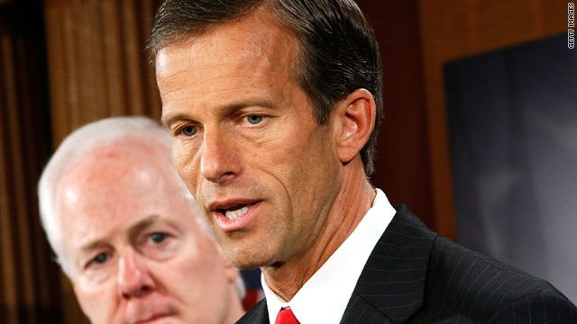 Thune beats back on Daniels' call for 'truce'
