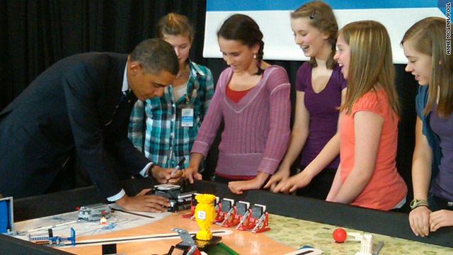 Obama's LEGO lesson