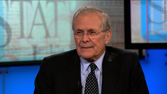 Rumsfeld criticizes Obama, says he's 'proud of America'