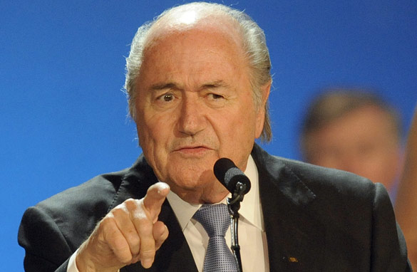 Sepp Blatter may face an unlikely opponent at this year's FIFA presidential elections. (AFP/Getty Images)