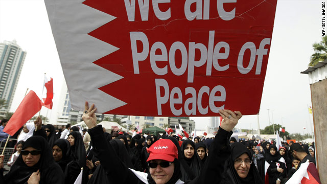 Tension and dark humor among protesters in Bahrain