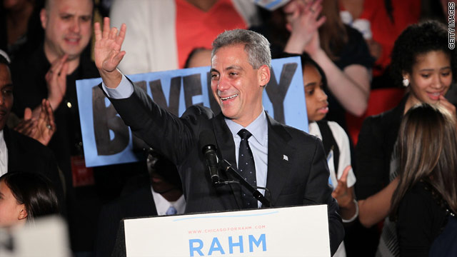 Rahm Emanuel wins Chicago mayoral vote