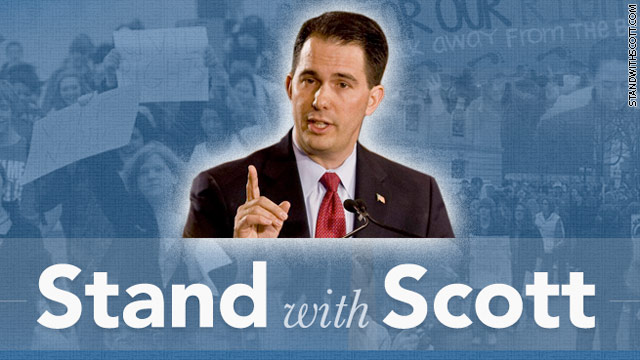 Republican governors back Walker