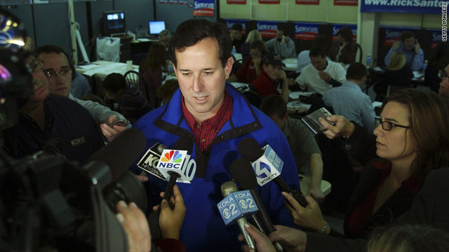 Santorum compares Wisconsin protesters to drug addicts