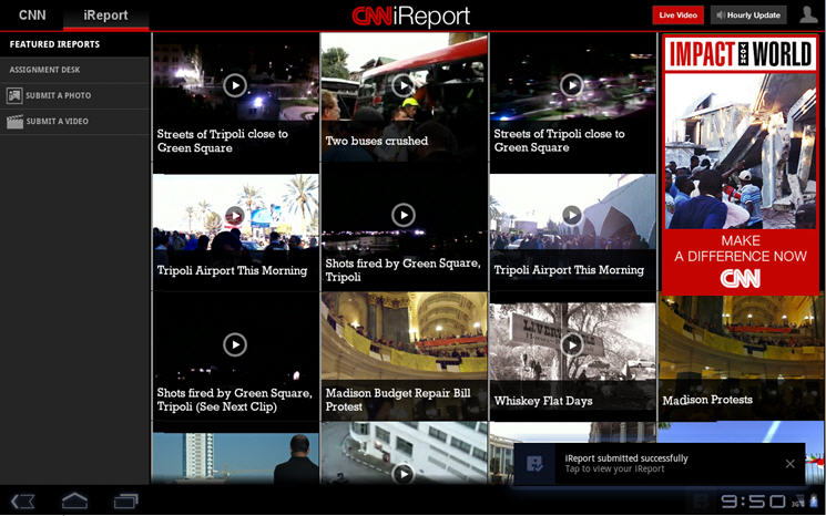 Cnn For Android S Ireport Feature