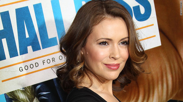 Alyssa Milano's feeling happy and healthy