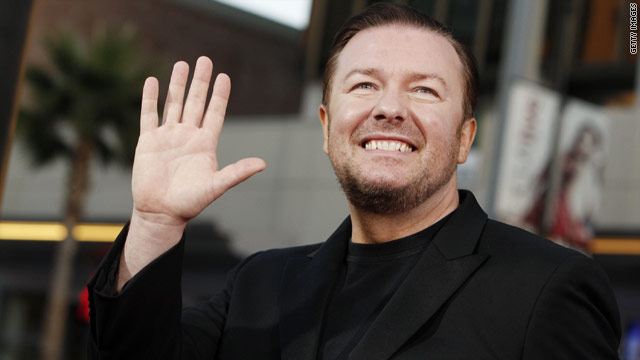 Gervais writes Oscars jokes for Franco and Hathaway