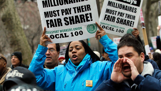 Public union battles spread across U.S.