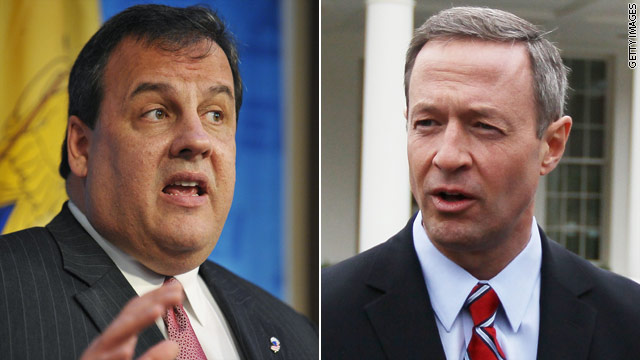 Christie steps up war of words with Maryland's O'Malley