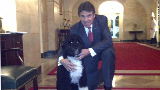 Obama – Rick Perry relationship goes to the dogs