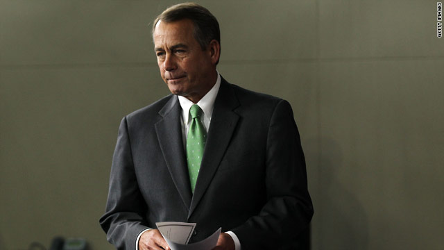 Boehner rejects four week government funding bill