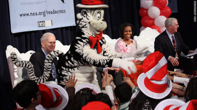 Michelle Obama: happy birthday Dr. Seuss!