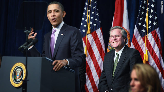 Obama and Jeb Bush – a bipartisan push for education