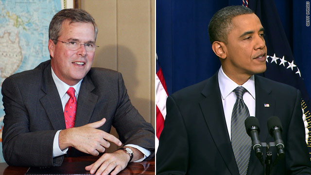 Obama and Jeb Bush- a bipartisan push for education