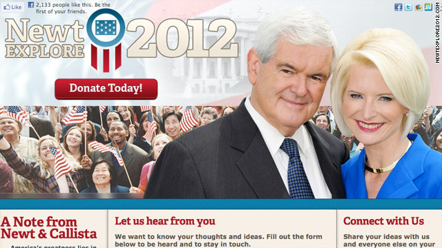 Gingrich site falls prey to web trick