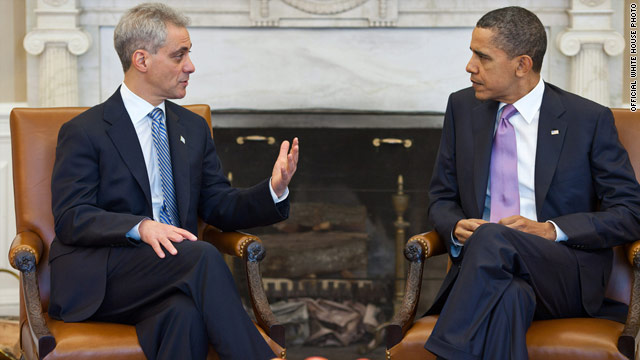 Mayor-elect Emanuel meets with Obama