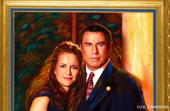 Zimmerman's portrait of John Travolta & Kelly Preston