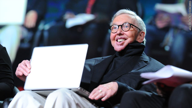 Ebert closes TED conference with emotional talk - and a laugh