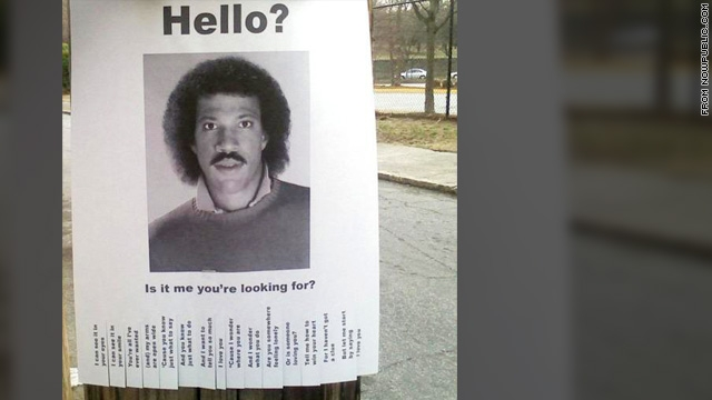 Hello? Is it Lionel Richie you're looking for?