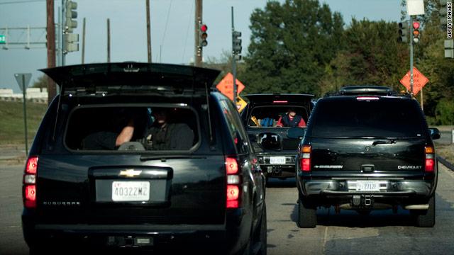 Presidential motorcade fender bender