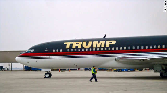 Photo: Trump plane lands in Iowa