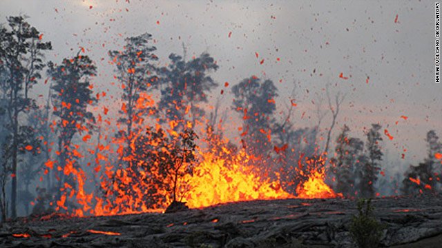Crater collapse sends lava spewing from Hawaii volcano