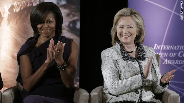 First lady, Sec. Clinton's message to women