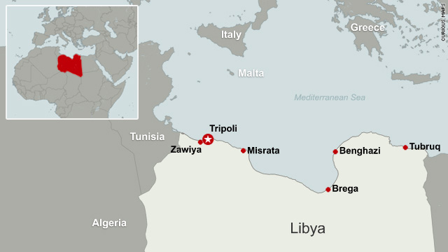Fighting rages for control of libyan cities cnn libya map publicscrutiny
