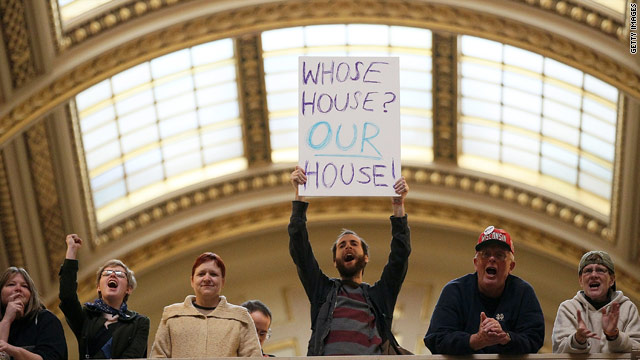 Wisconsin state Assembly passes bill curbing collective bargaining rights