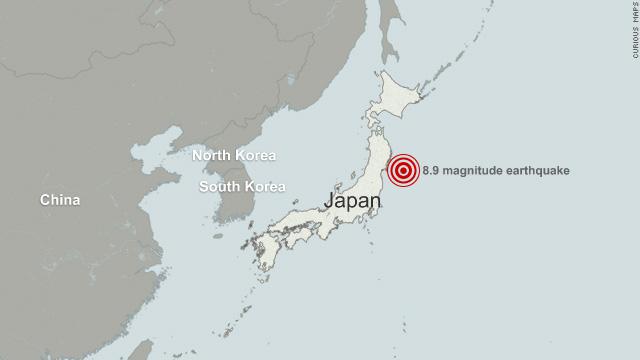 Quake Moved Japan Coast Feet Shifted Earths Axis CNNcom - Japan map earthquake