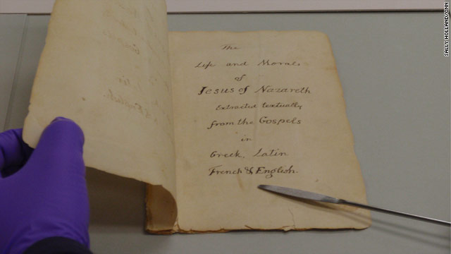 Saving Thomas Jefferson's scrapbook Bible