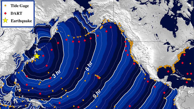 U.S. cities on Pacific under tsunami warning