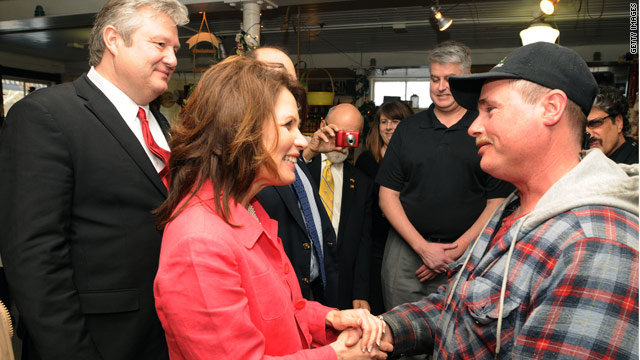 Bachmann increases public profile, makes another gaffe, in NH trip