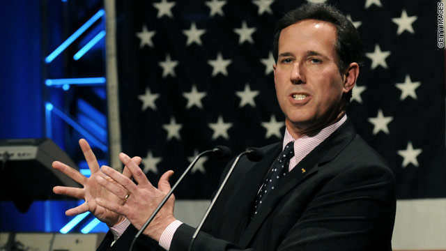 Santorum hits Romney over health care