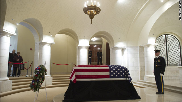 Obama and Biden pay their respects