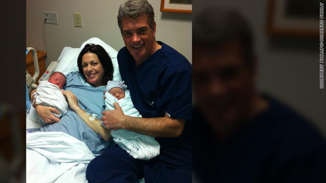 Kyra Phillips and John Roberts welcome twins