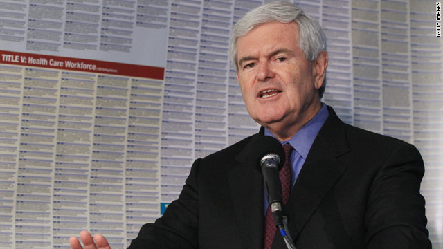 Gingrich: Health care law will likely be repealed by spring 2013