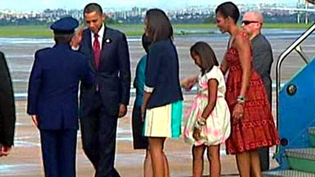 Obama arrives in Brazil