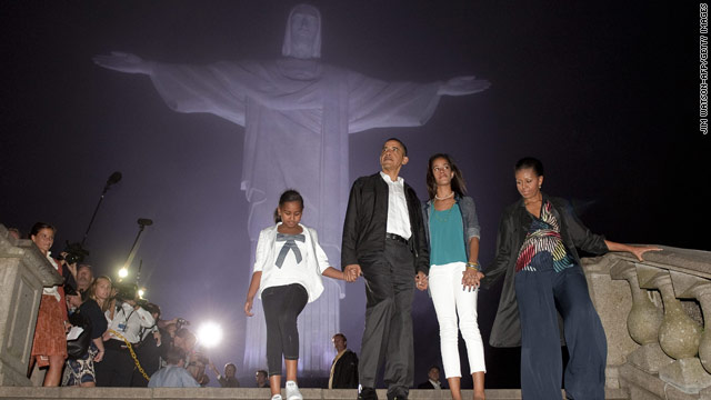 First Family visits iconic Rio landmark