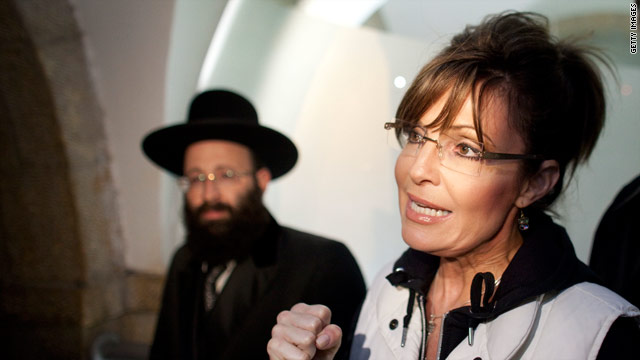 Palin visits Israel as she mulls presidential run