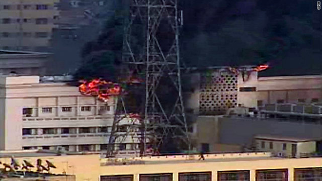 Egyptian Interior Ministry burning