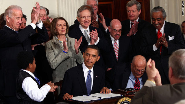 Health care law turns 1: Who's up; who's down?