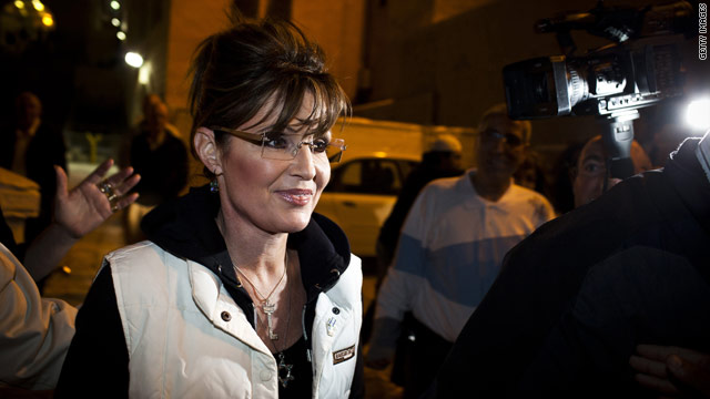 'I'm through,' Palin says