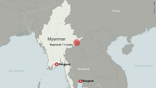 6.8-quake strikes Myanmar